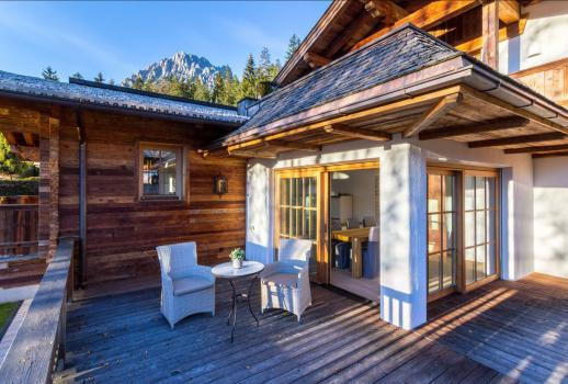 For Sale: a wonderful chalet with a fantastic view over the Wilder Kaiser Mountains