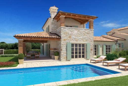 Your dream house on the Adriatic coast - construction project in Croatia - modern stone house in historical look! House 11