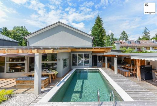 Designer villa with luxury ambience - swimming pool and beautiful view (in Rif, near Schloss Rif, Anif / Niederalm and Salzburg Süd)