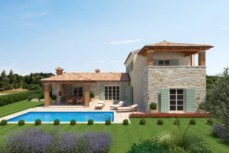 Your dream house on the Adriatic coast - construction project in Croatia -Modern stone house in historical look! House 10
