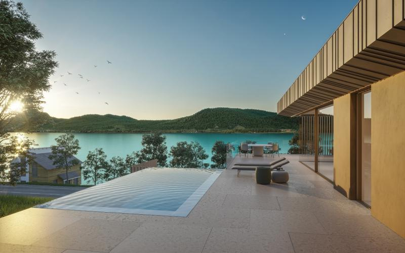 Design jewel Attersee - living at Attersee - penthouse 180m2, pool, private spa