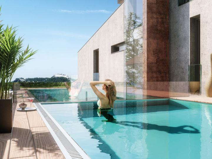 Gorgeous, luxury penthouse apartment with a pool for sale in Salzburg - an absolute dream location