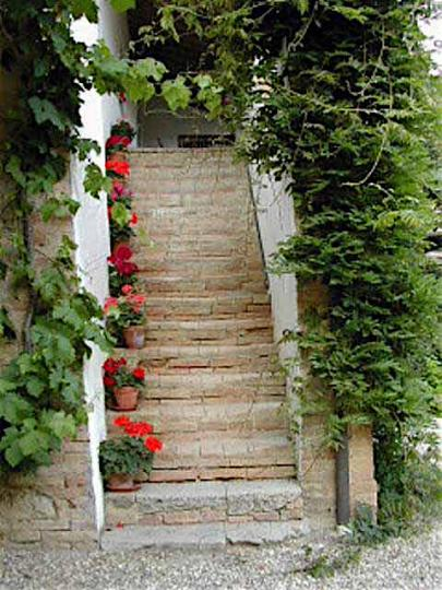 Stairs to Loggia