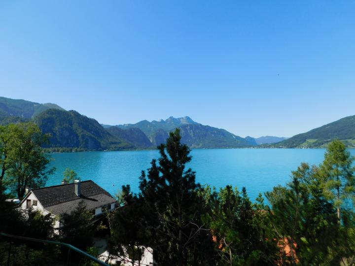 Property on Lake Attersee - with a boathouse and a large swimming area on the sunny eastern shore of Lake Attersee