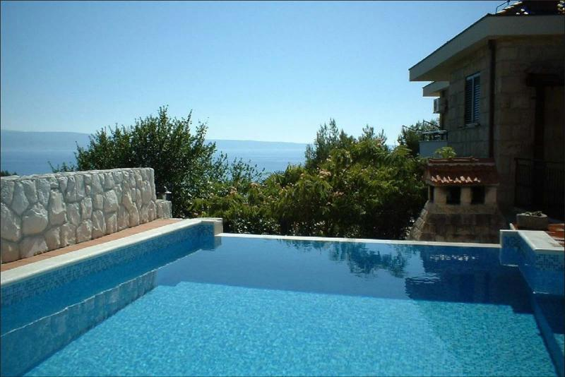 Mediterranean style house with view of the sea.