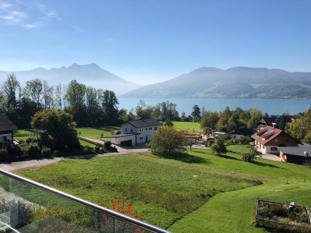 Modern house in a privileged panoramic position on Lake Attersee