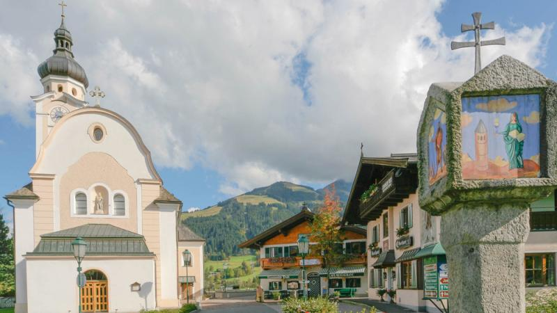 typical Tyrolean alpine chalet in an idyllic panoramic position