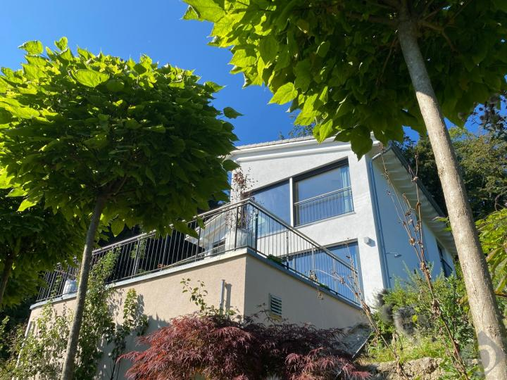Villa with a view of the crystal clear Wolfgangsee: modern ambience, absolute quiet location!